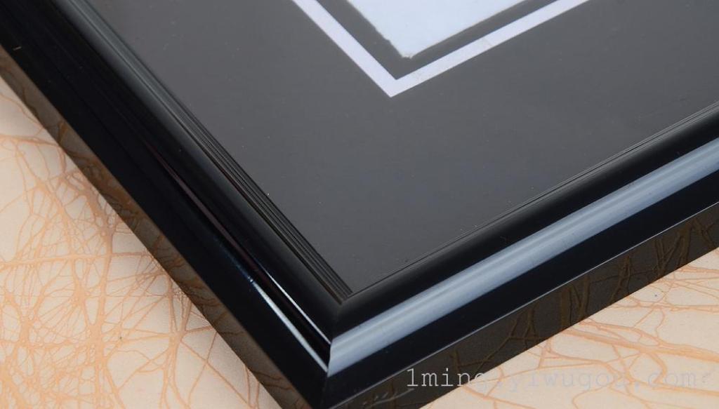 pvc塑料相框 黑卡纸框 老人框 遗像框 卡纸框 黑相框