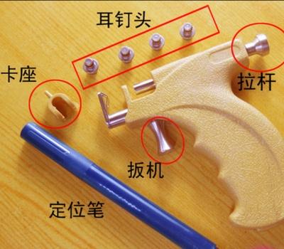 Stainless steel stud gun ear Stud gun pierced gun shots painless ear nail ear-piercing tools