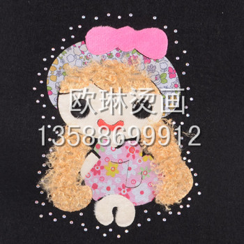 [OULIN] girl accessories with diamond hot tear press hot wholesale customized jeans clothes shoes and bags
