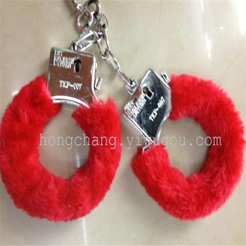 Plush child sexy handcuffs handcuffs handcuffed dice bracelets toy handcuffs fingers series