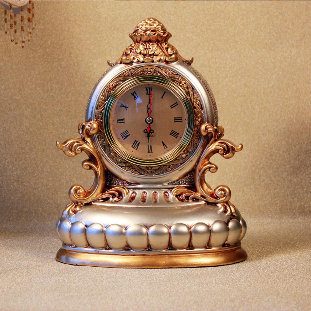 欧式摆件床头柜摆设家居装饰品树脂工艺品时钟摆件