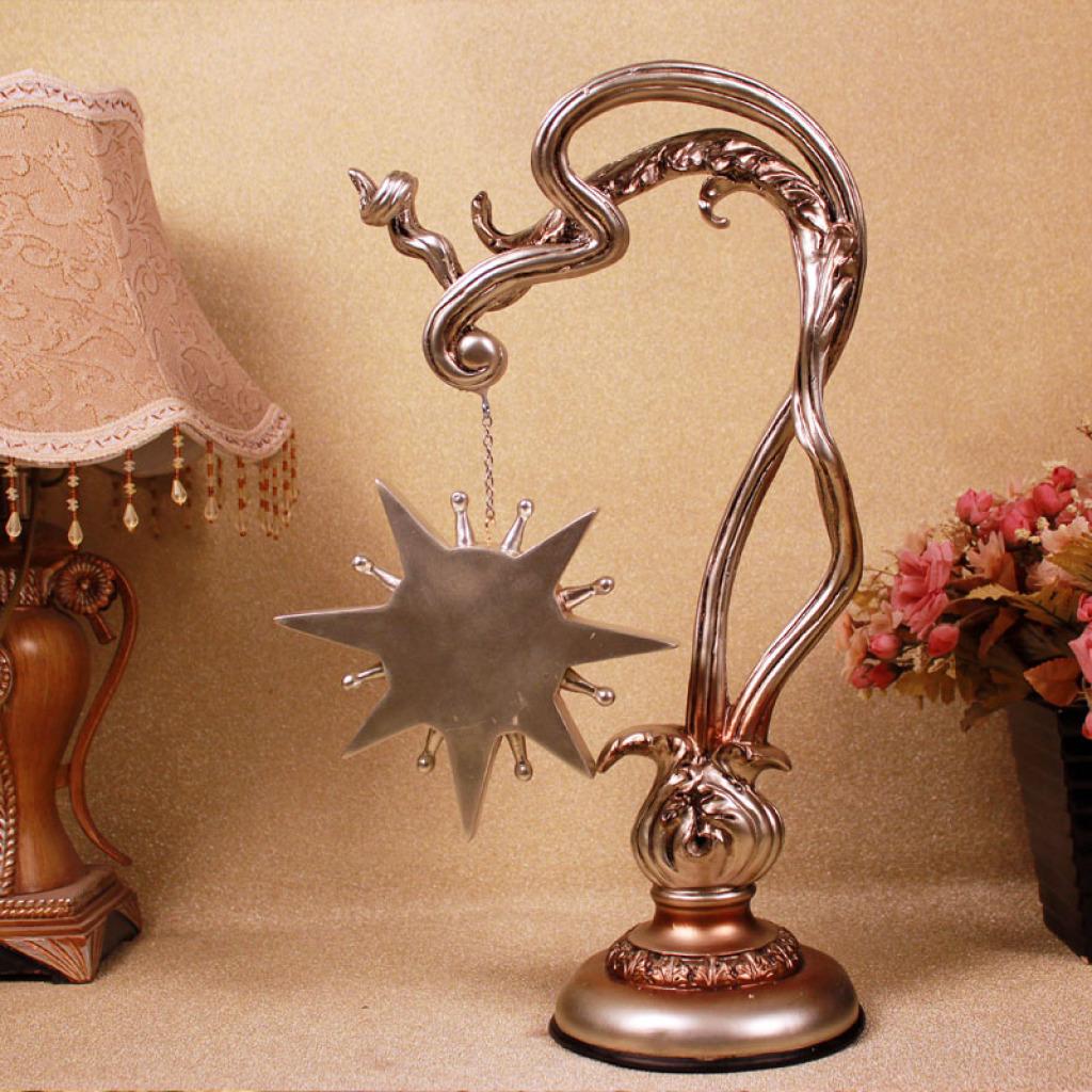 树脂摆件创意钟卧室客厅工艺品欧式家居装饰抽象简约