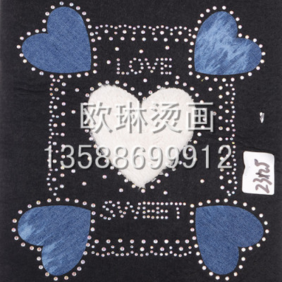 Tore the heart-shaped graphic heat hot picture hot wholesale custom-made jeans/clothing/shoe bag