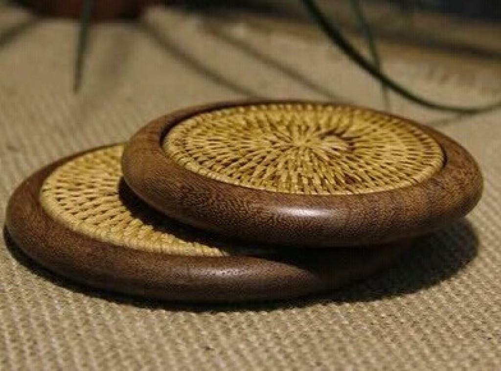 越南秋藤编铁木杯垫隔热垫品茗杯茶垫铁壶垫紫砂养壶