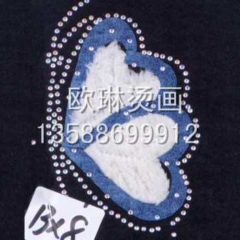 Graphic tearing 2 hot scalding painting wholesale custom-made jeans/clothing/shoe bag