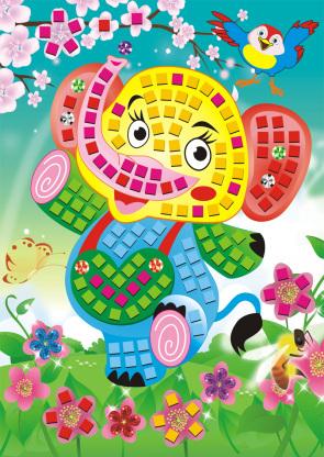 热销diy手工制作创意 儿童益智玩具 马赛克贴画