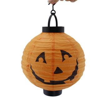 Halloween festival supplies bar scene decoration Jack lanterns hanging paper lanterns Jack-O-Lantern pumpkin