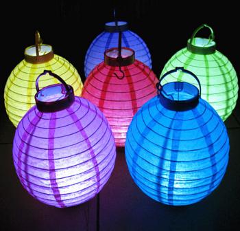 LED color wedding Lantern wholesale Lantern Festival decoration paper Lantern wholesale factory direct