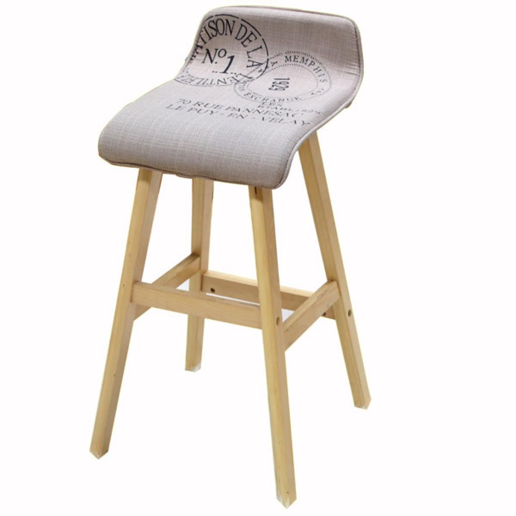 实木吧台椅田园吧凳酒吧椅高脚凳高腿长腿前台椅子