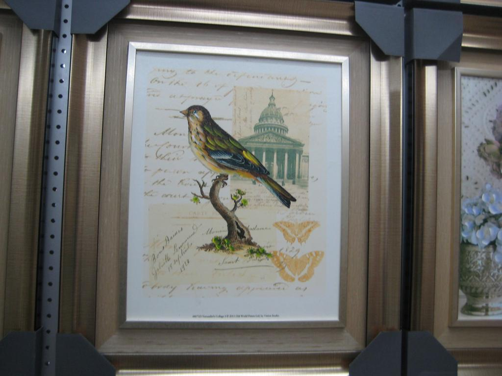 金属质感相框装饰画 半手绘油画