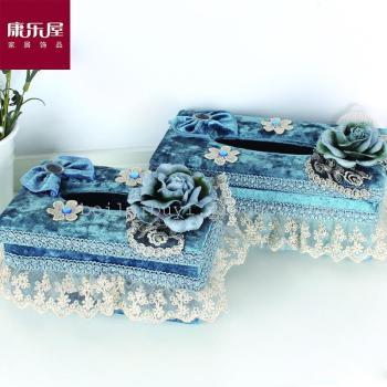 Vivienda de ocio, Factory Outlet Boutique Tissue Box Series, tela de encaje de alta gama de regalos, regalos
