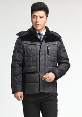 Foreign trade explosion father put new middle-aged men winter coat jacket collar Hooded Jacket m cold
