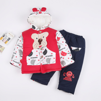 Children's wear padded suits baby girls thicken cotton sweater in winter winter baby clothes
