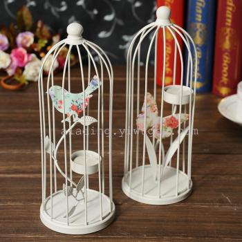 European prints, animal-shaped birdcage candle holder home accessories and crafts ornaments