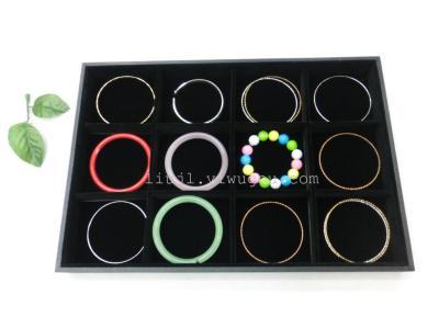 Black velvet 12 disc 35*24*3CM hand-bead bracelets bangles