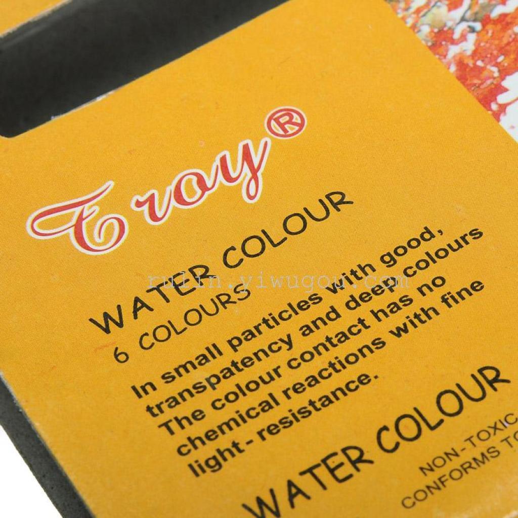 厂家直销来样定做12毫升6色水彩颜料