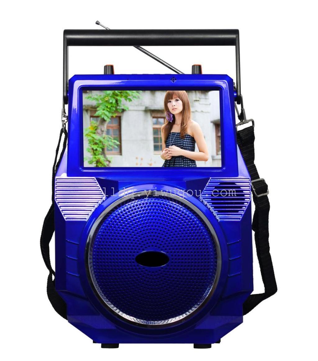 k690 7寸视频音箱 锂电池电瓶音箱 广场舞音箱图片