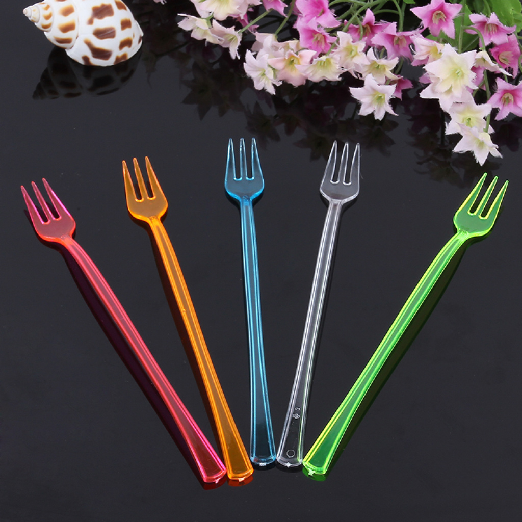 Supply Factory outlets, colored plastic fruit forks, salad ...