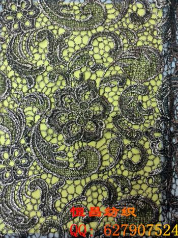 Hot water soluble bulei silk fabrics apparel fabrics dimensional embroidery curtain fabric
