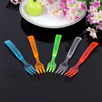 彩色叉子 透明塑料叉子
