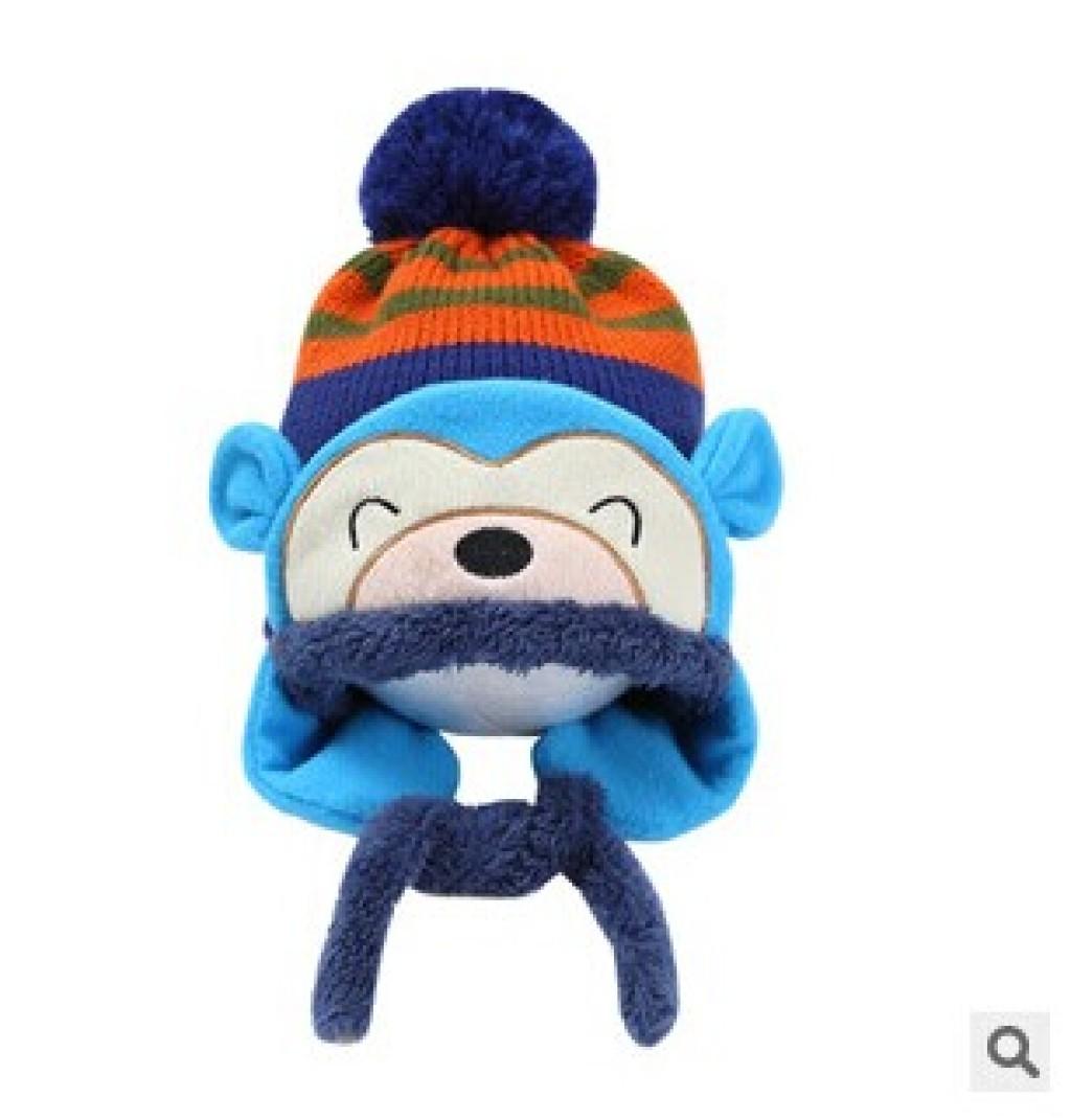 卡通猴子帽子 儿童帽