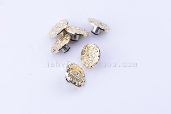 58-zinc alloy buttons cowboy buckle jeans garment accessory factory low price