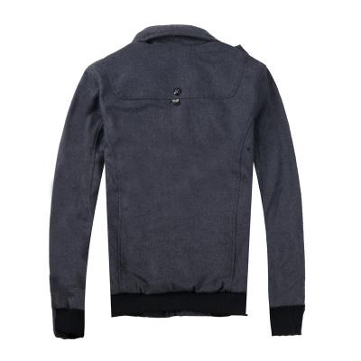 Autumn/winter men's casual button zipper jacket men wool cloth coat