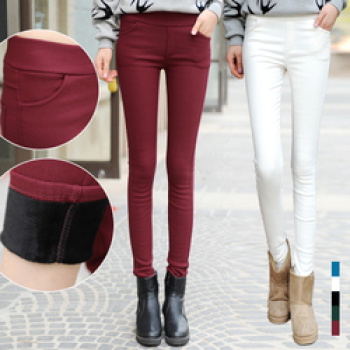 Wearing Leggings for fall/winter 2014 new waist thickened and wool-nylon one self warm