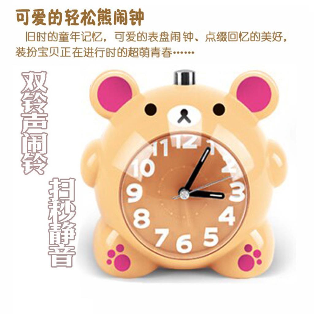 可爱粉猪闹钟 卡通萌萌哒小猪猪猪闹钟 儿童学生床头闹钟