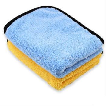 超細纖維高低毛擦車毛巾   專業汽車護理毛巾
