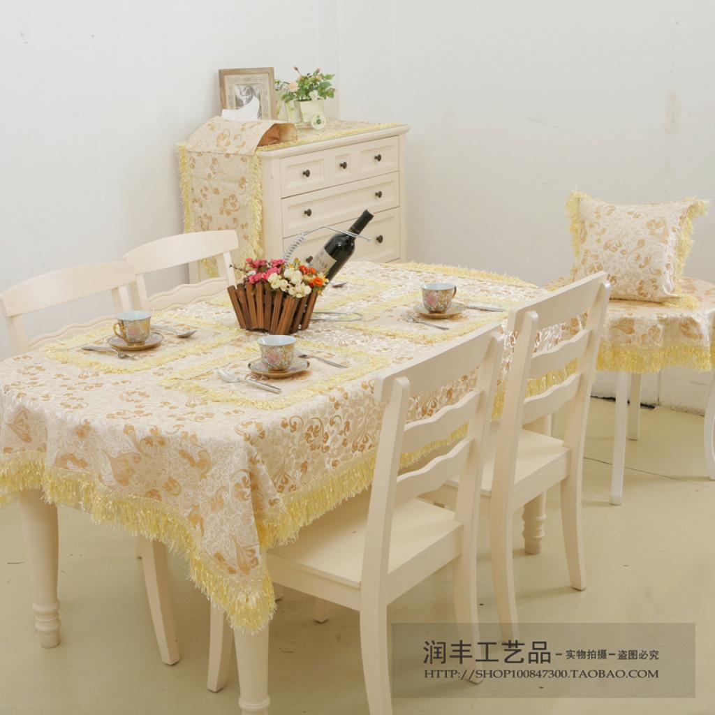 欧式古典印花方形桌布