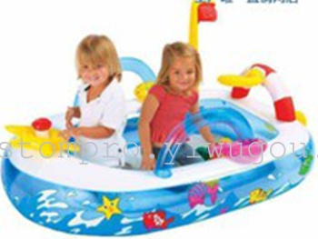 Fitness inflatable water toys, swimming toys mini fun boat ball pool