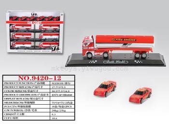 Alloy slide model car truck van toys set 9420-12