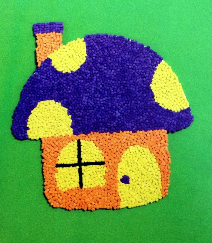 儿童手工制作粘贴画 eva泡沫颗粒贴画 益智玩具泡沫