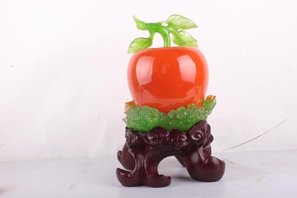 精品仿玉大号苹果摆件 平安是福树脂工艺品 b214