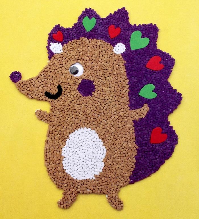 儿童手工制作粘贴画 EVA泡沫颗粒贴画 益智玩具泡沫海绵贴纸 高峰纸图片