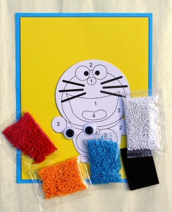 儿童手工制作粘贴画 eva泡沫颗粒贴画 益智玩具泡沫海绵贴纸