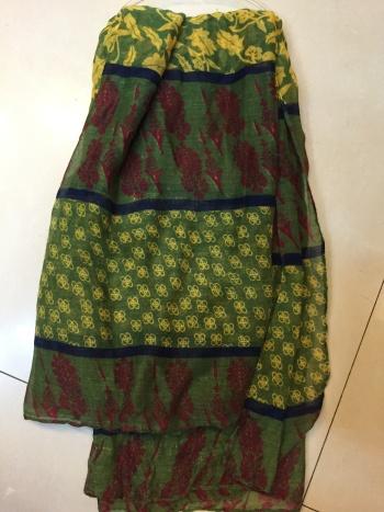 墨绿巴厘纱围巾
