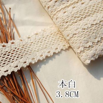 3.8CM fine bilateral textile fabric cotton lace flower jewelry children's clothing accessories