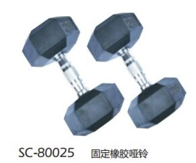 SC-80029 in shuangpai fixed rubber dumbbells