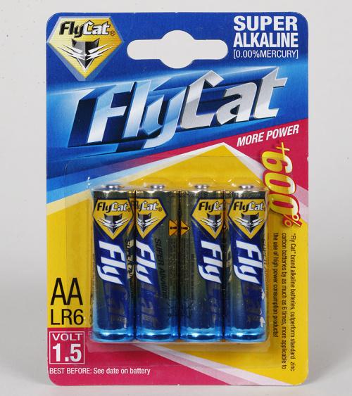 FLYCAT flying cat alkaline 4 5th, card batteries