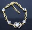 Austria Crystal lasting colour retention premium 21K gold plated bracelet