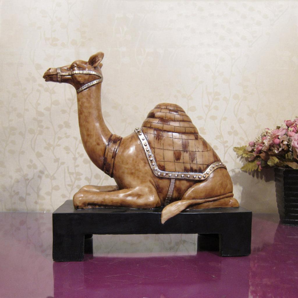 欧美复古动物摆件 古典家居树脂装饰骆驼 酒店ktv装修摆设