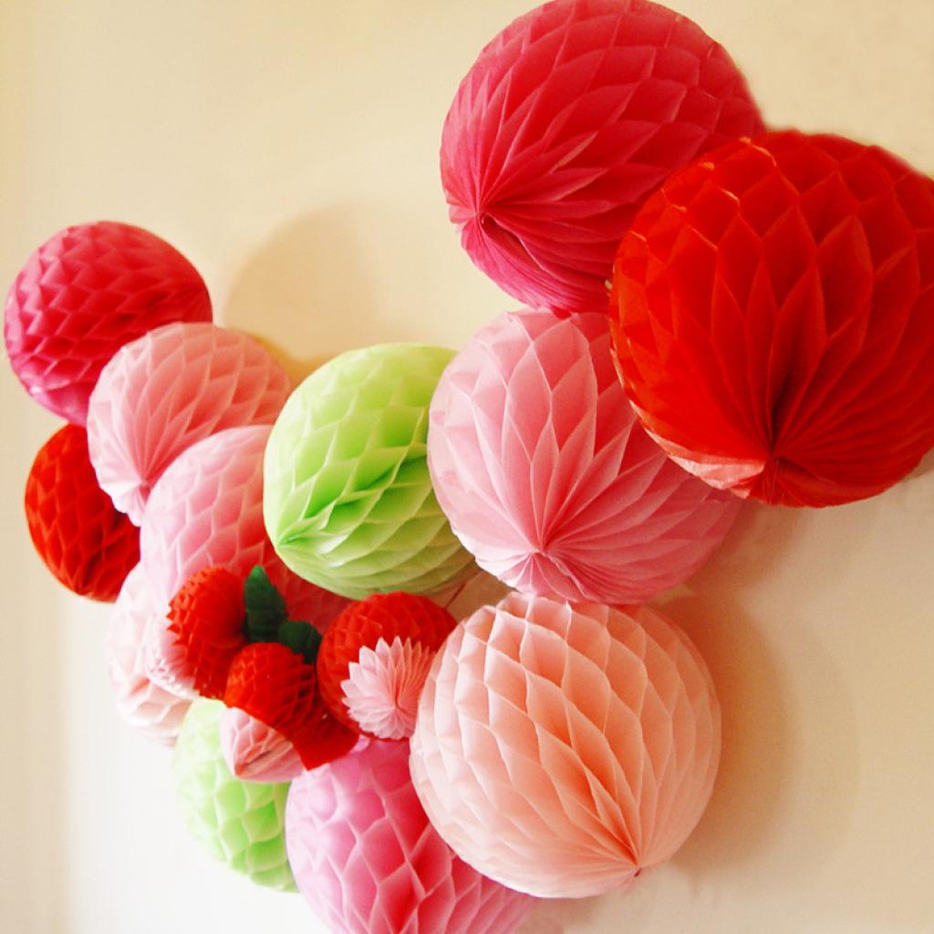 外贸出口欧美纸花球蜂窝纸球花