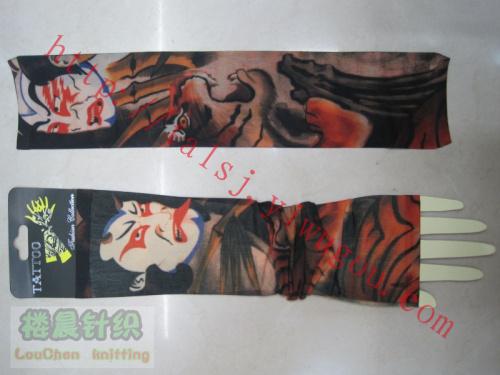 骷髅 蛇图案纹身袖套超酷图案刺青袖套无缝机车袖套户外骑行套袖