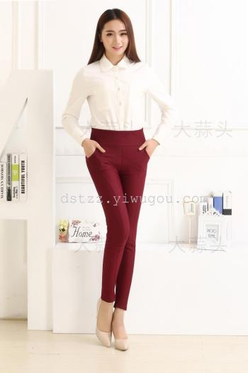 Number 2302 high stylish nylon waist jeans are not poured down Ms warm leggings footless tights