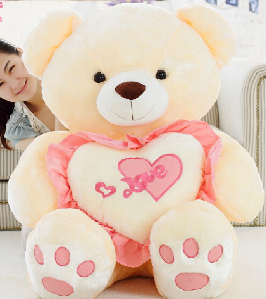 毛绒玩具泰迪熊可爱抱心熊love爱心熊表白创意礼物抱抱熊