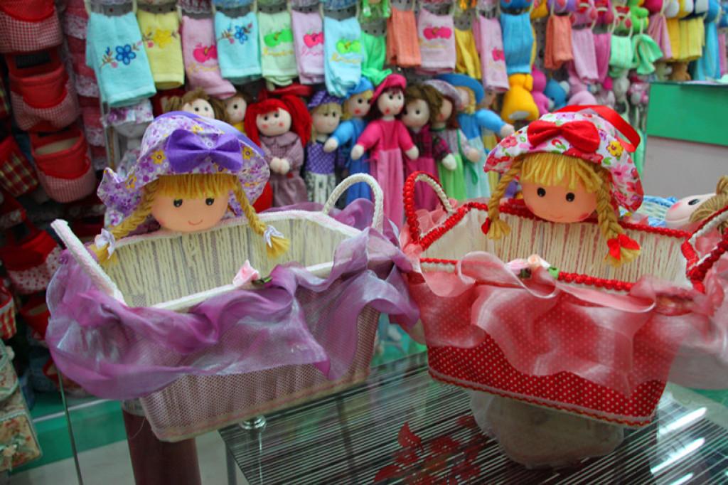 卡通系列水果篮紫系可爱娃娃收纳