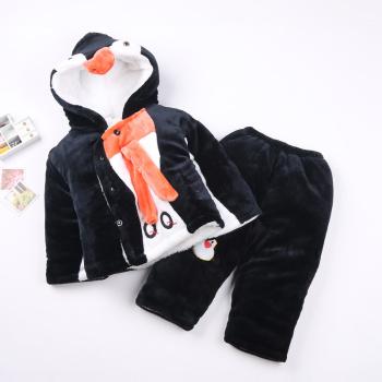 2017 Korean baby baby cotton two piece suit jacket thick clothes suit children cartoon