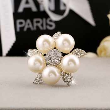 Quick sell through the explosion, pearl leaf ring opening adjustable